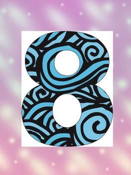 Number (0 - 10) - Blue Sea