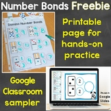 Free Number Bonds for Google Classroom Sample & Number Bon