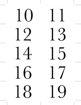 Free Number Card Printable