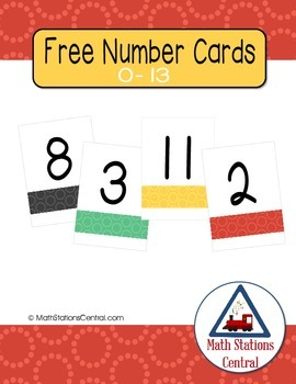 Free Number Cards {0-13}