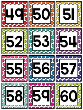 image regarding Free Printable Number Cards identify Selection Playing cards 1-120 - Free of charge