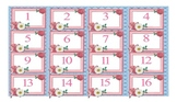 Free Number Cards Ribbon Calendar Numbers