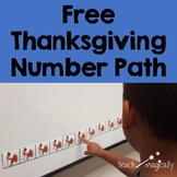 Free Number Line Thanksgiving Math Center