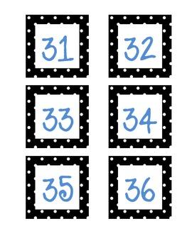 Free Number Polka Dot Labels
