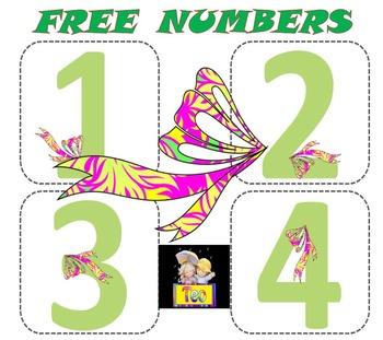 Free Number Cards Spring