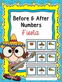 Free Numbers Before And After Task Cards -Fiesta Theme