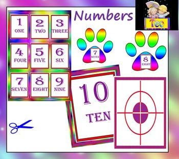 Paw Prints - Clip Art - Numbers - Personal or Commercial Use