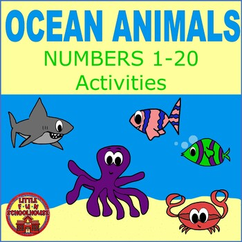 Free Ocean Animals Numbers 1 20 Worksheets