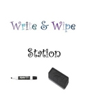 Free Ocean Theme Write and Wipe Center/Station