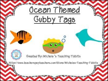 Cubby Tags: Ocean Themed