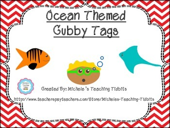 Free Ocean Themed Cubby Tags