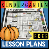 Free October Lesson Plans for Kindergarten - Fall and Hall
