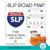 Free October Speech & Language Therapy Lesson Plans