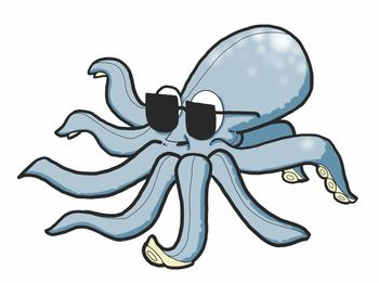 Free Octopus in Sunglasses Clipart
