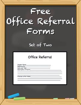 Free Office Referral Forms