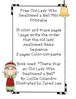 Free Old Lady Who Swallowed a Bell Mini Printable