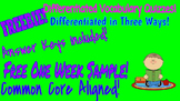 Free One Week Sample!  Differentiated Vocabulary Quizzes w