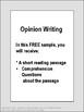 Free Opinion Writing Printables