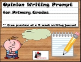 Free Opinion Writing Prompt for Primary Students
