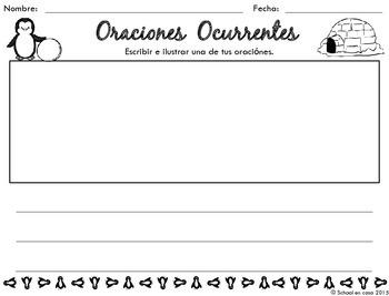 {Free} Oraciones Ocurrentes Actividad (Spanish Singular Sentences Activity)