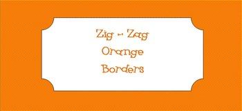 *Free Orange Zig-Zag Borders