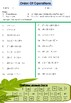 Free Order Of Operations Worksheet