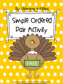 Free Ordered Pair Thanksgiving Activity