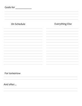 Organizing Tool - To Do List