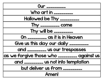 "Free!  ""Our Father"" Prayer Chain Craft Activity"