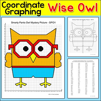 Wise Owl Coordinate Graphing Picture Ordered Pairs End Of The