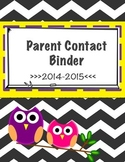 Free Owl Chevron Parent Contact Binder Printable