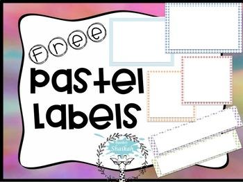 Free PASTEL LABELS