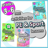Free PE Sport Lesson ideas › Pair Stations, Soccer lesson & Team Game grades 3-6