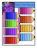 {Free} Paint Chip Pencils Clipart