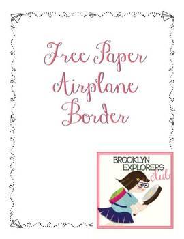 Free Paper Airplane Border