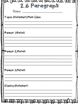 Free Paragraph Writing Templates
