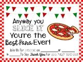 Free Paraprofessional Appreciation Lunch Invite