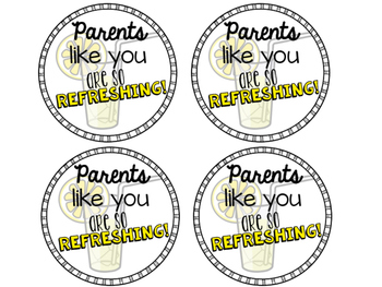 Free Parent Appreciation Water Labels {Parents Like You Are So Refreshing}