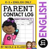 Parent Communication Contact Log