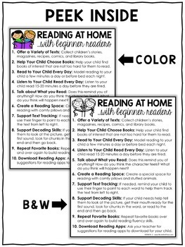 Reading at Home Tips Handout