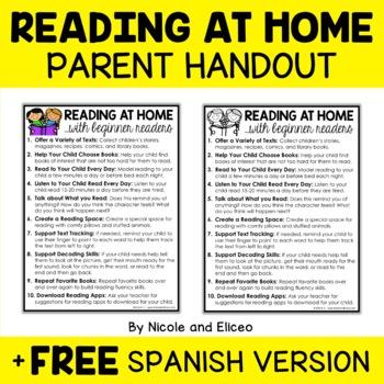 Free Parent Handout for Beginner Readers