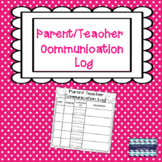Free Parent Teacher Communication Log