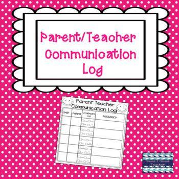 Free Parent Teacher Communication Log