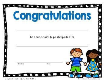 Free Participation or Graduation Certificate