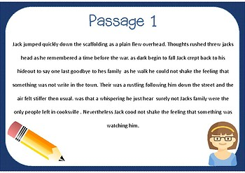 Free Sample Passages for Editing and Proofreading!