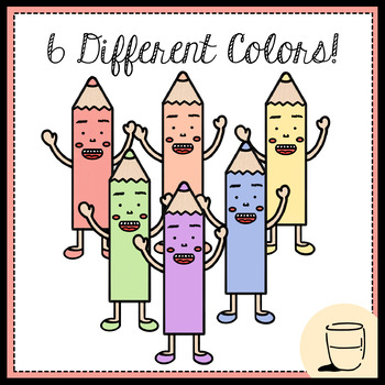 Free Pastel Colored Pencil Family Clip Art