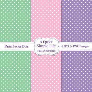 Pastel Polka Dot Digital Papers