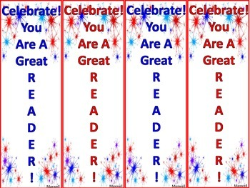 Free! Patriotic Bookmarks for the 4th of July