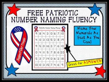Free Patriotic Number Naming Fluency
