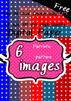6 Patriotic pattern(stars) background clipart 300 pdi png F